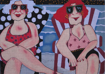 click here to view larger image of Surfer Girls (hand painted canvases)
