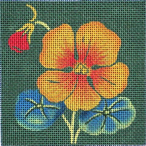 click here to view larger image of Nasturtium (hand painted canvases)