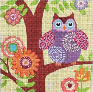 click here to view larger image of Little Hootie (hand painted canvases)