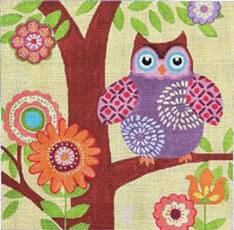 click here to view larger image of Hootie (hand painted canvases)