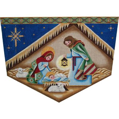 click here to view larger image of Nativity Cuff - 18ct (hand painted canvases)