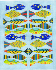 click here to view larger image of Fish School - 18ct (hand painted canvases)