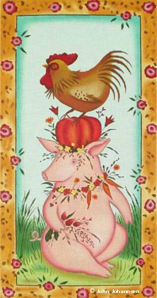 click here to view larger image of Pig Stack (hand painted canvases)