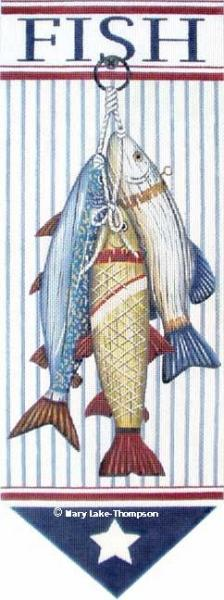 click here to view larger image of Fish Banner (hand painted canvases)