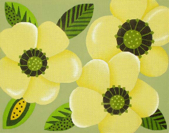 click here to view larger image of Big Yellow Flower Clutch/Pillow (hand painted canvases)