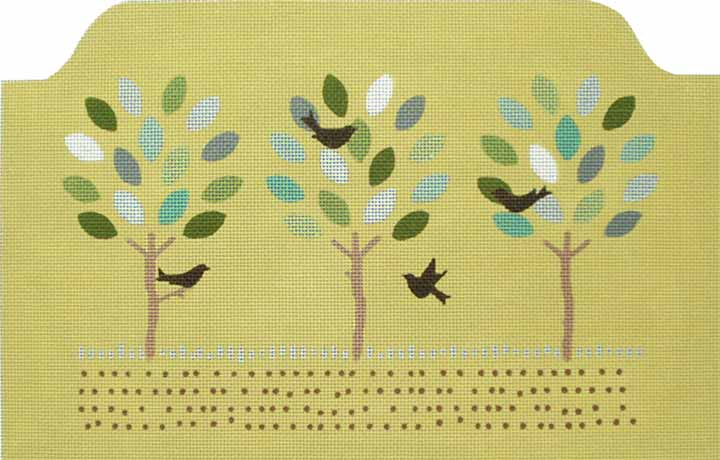 click here to view larger image of Summer Trees Tote (hand painted canvases)