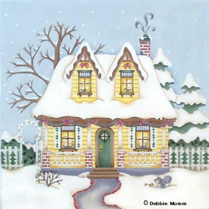 click here to view larger image of Candlelight Cottage (hand painted canvases)