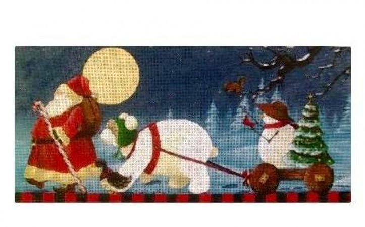 click here to view larger image of Christmas March (hand painted canvases)