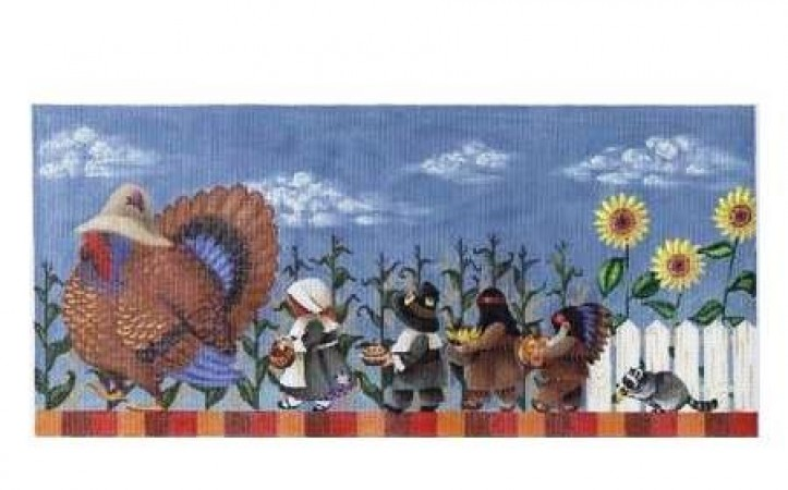 click here to view larger image of Thanksgiving March - 18ct (hand painted canvases)