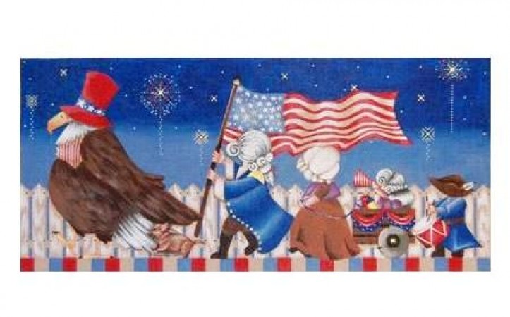 click here to view larger image of 4th of July March - 13ct (hand painted canvases)