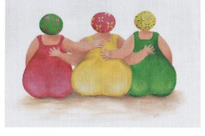 click here to view larger image of Beach Buns, Women (hand painted canvases)