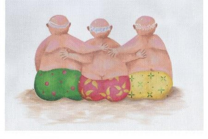click here to view larger image of Beach Bottoms, Men (hand painted canvases)