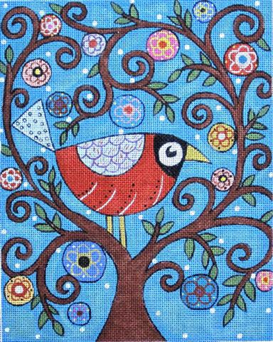 click here to view larger image of Bird in Tree (hand painted canvases)