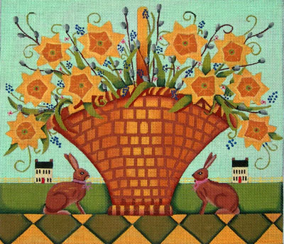 click here to view larger image of Spring Daffodils (hand painted canvases)