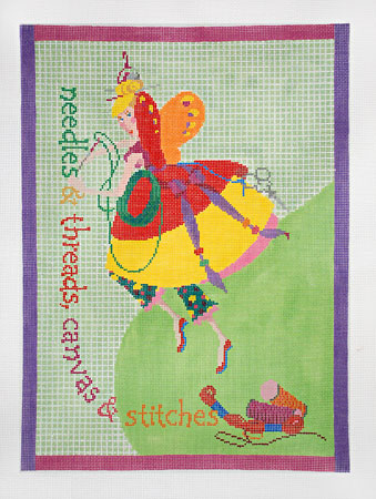 click here to view larger image of Needlepoint Fairy (hand painted canvases)