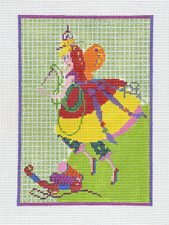 click here to view larger image of Needlepoint Fairy Small (hand painted canvases)