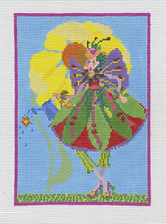 click here to view larger image of Garden Fairy Small (hand painted canvases)