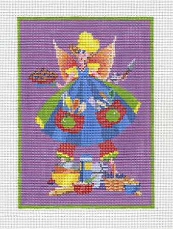 click here to view larger image of Baking Fairy Small  (hand painted canvases)