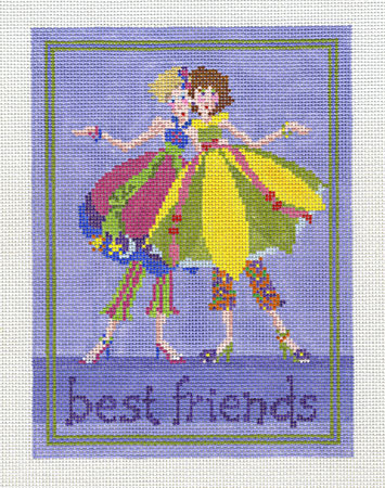 click here to view larger image of Best Friends Small (hand painted canvases)
