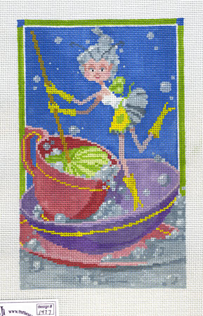 click here to view larger image of Dishwashing Pixie (hand painted canvases)