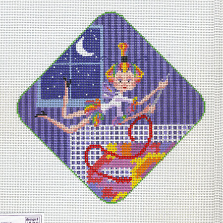 click here to view larger image of Needlepoint Pixie (hand painted canvases)