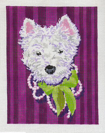 click here to view larger image of Westie Girl (hand painted canvases)