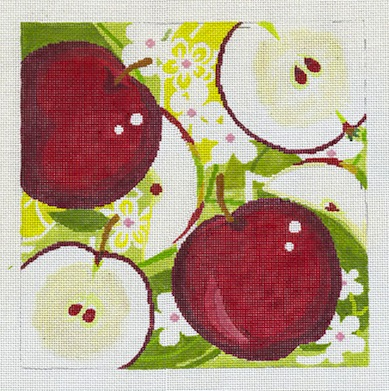 click here to view larger image of Apples - 18ct (hand painted canvases)