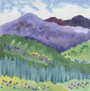 click here to view larger image of Mid Summer Mountain (hand painted canvases)