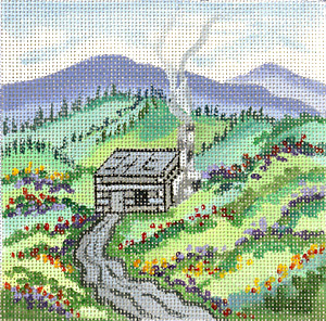 click here to view larger image of Log Cabin (hand painted canvases)