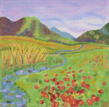 click here to view larger image of Fall Stream (hand painted canvases)