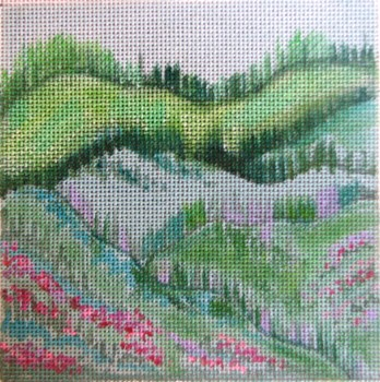 click here to view larger image of Misty Mountain revisited (hand painted canvases)