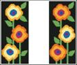 click here to view larger image of Contemporary Floral Reader EGC (hand painted canvases)