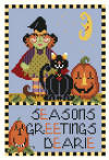click here to view larger image of Seasons Greetings Dearie (hand painted canvases)