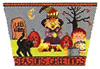 click here to view larger image of Trick or Treat Basket Front (hand painted canvases)