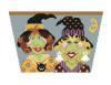 click here to view larger image of Bitchy Witchy Sisters Basket Front (hand painted canvases)
