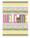 click here to view larger image of Spring Welcome (hand painted canvases)