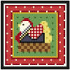 click here to view larger image of Mini Hen in a Basket (hand painted canvases)