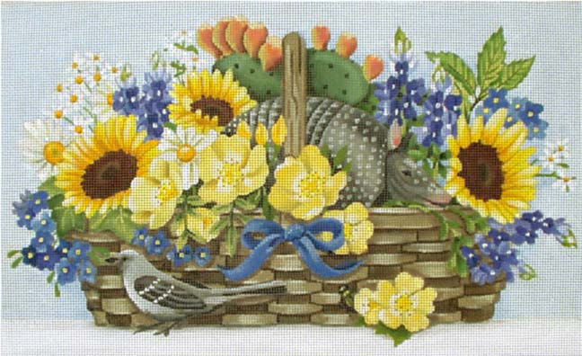 click here to view larger image of Texas Basket (hand painted canvases)