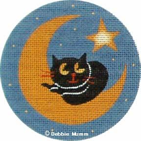 click here to view larger image of Moon Cat (hand painted canvases)