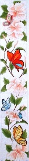 click here to view larger image of Butterfly and Hibiscus (13M) (hand painted canvases)