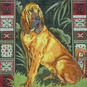 click here to view larger image of Bloodhound (hand painted canvases)