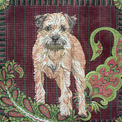 click here to view larger image of Border Terrier (hand painted canvases)