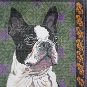 click here to view larger image of Boston Terrier (hand painted canvases)