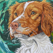 click here to view larger image of Brittany Spaniel II (hand painted canvases)