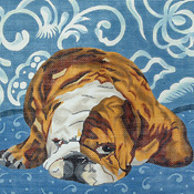 click here to view larger image of Bulldog (hand painted canvases)