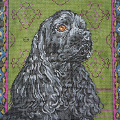 click here to view larger image of Black Cocker Spaniel (hand painted canvases)