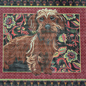 click here to view larger image of Wire-Haired Dachshund (hand painted canvases)