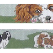 click here to view larger image of King Charles Dog Collar (hand painted canvases)