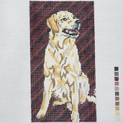 click here to view larger image of Yellow Lab EGC (hand painted canvases)