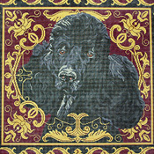click here to view larger image of Black Poodle (hand painted canvases)